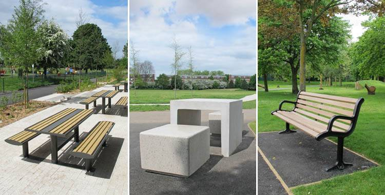 External seating for the regeneration of Heston Park