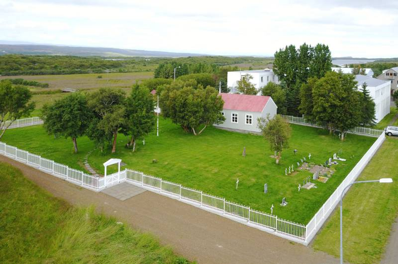 Bespoke Bow Top fencing provides demarcation for church in East Iceland