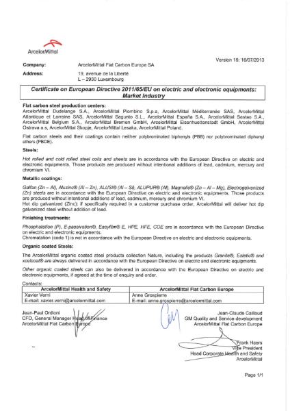 ROHS Certificate EN