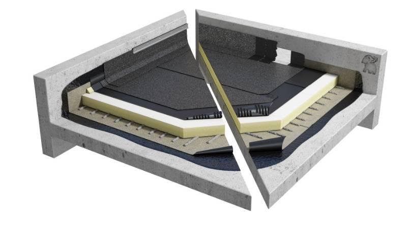 Sopralene Flam 250 AF -Bituminous Warm Flat Roof system (CNB1PGPSBK_002)