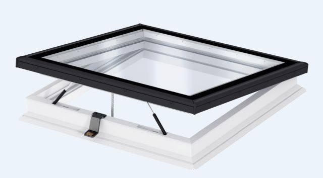 CVP INTEGRA® Elect. flat roof window, flat glass