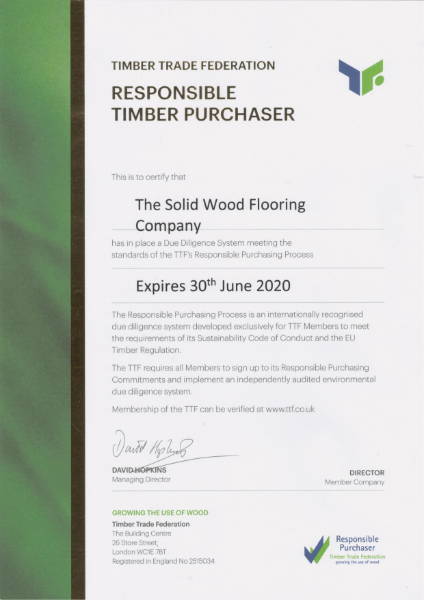 Timber Trade Federation (Responsible Timber Purchaser)