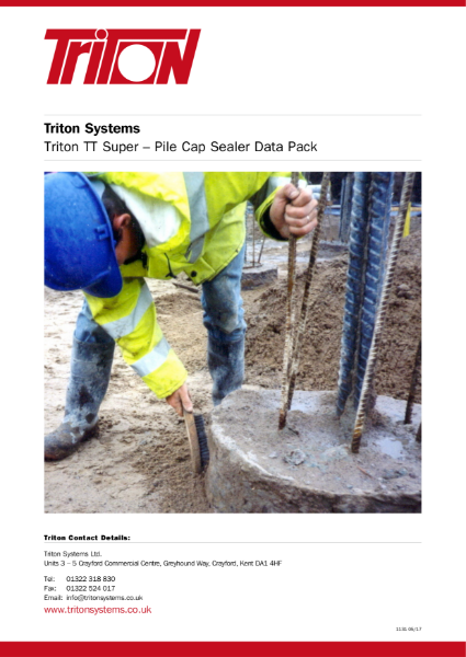 Triton Systems Pile Cap Sealer for Structural Waterproofing Data Pack