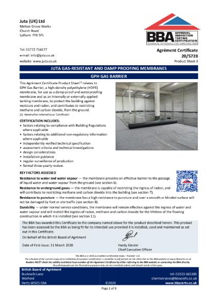 JUTA GPH Gas Barrier 20/5728 - Product Sheet 3