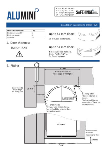 Alumini - Installation instructions