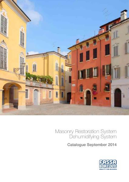 Fassa Bortolo Masonry Restoration and Dehumidifying System