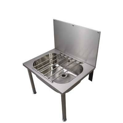 Stainless Steel Wall Hung Bucket Sink
