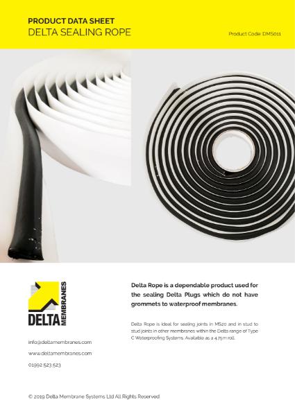 Delta Sealing Rope Product Data Sheet