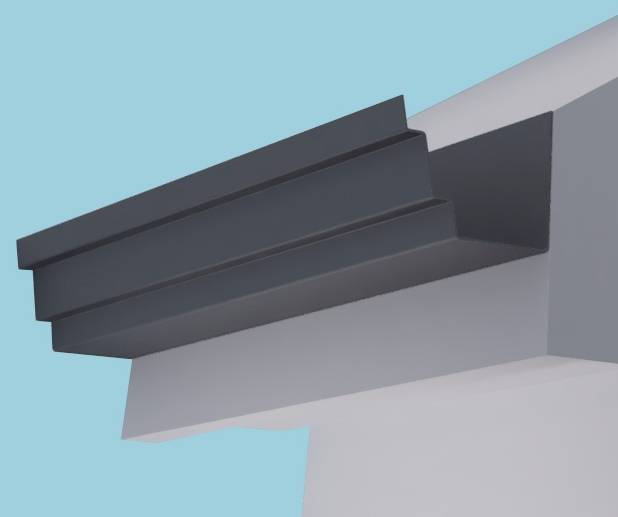 Stepped Aluminium Fascia Profile