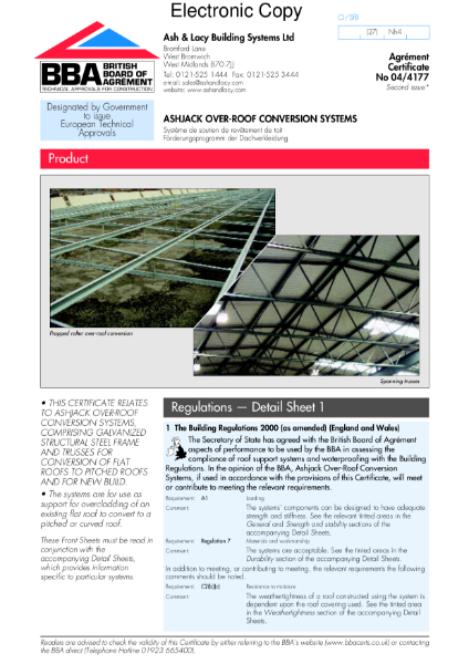 Ashjack over-roof conversion systems
