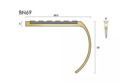 BN69 brass stair nosings