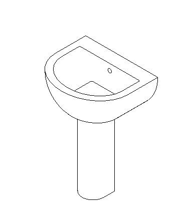Pedestal wash basin