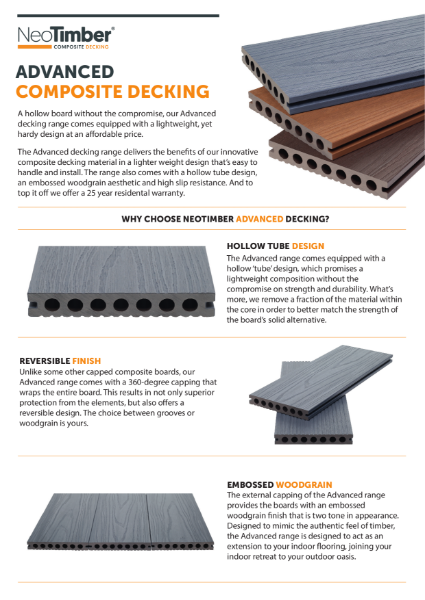 NeoTimber Advanced Composite Decking Technical Specifications