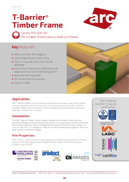 ARC T-Barrier Timber Frame