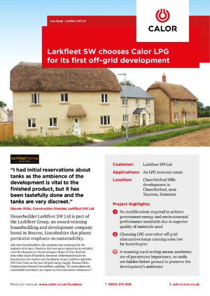 Larkfleet Homes Case Study