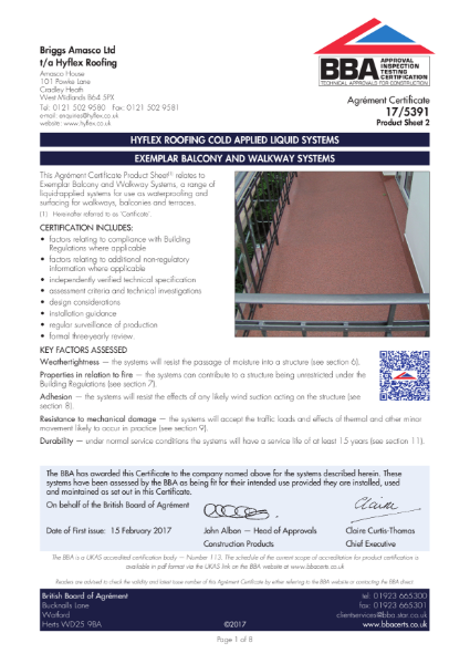 17/5391_2 Exemplar balcony and walkway systems