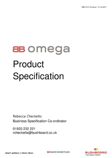 Omega Specification - Worktops