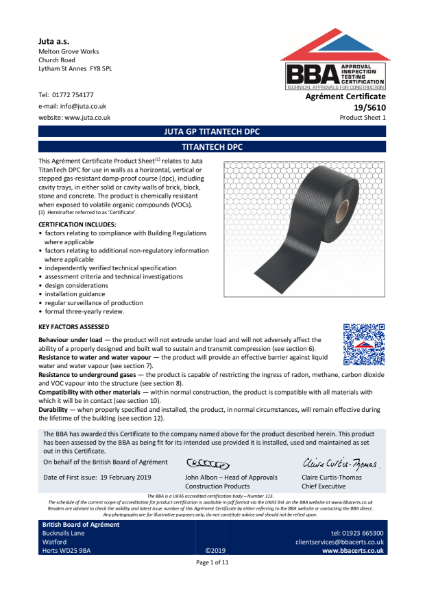 JUTA GP Titantech DPC 19/5610
