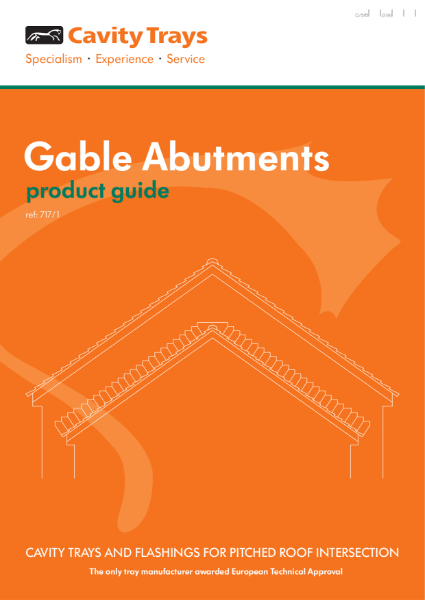 Gable Abutment stepped abutment cavity tray