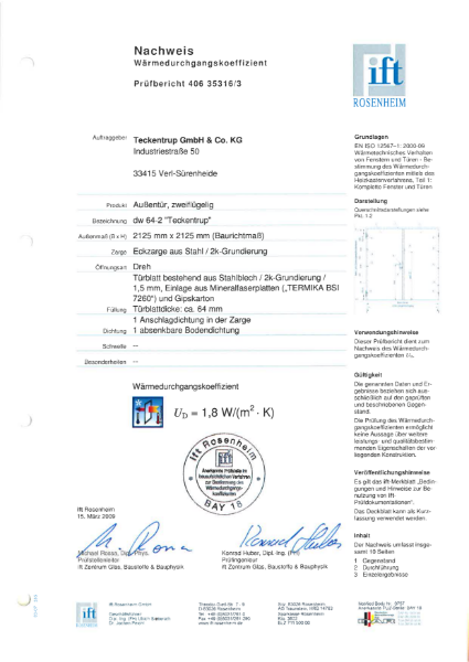 T60-1 FSA 62 Thermal Insulation Test