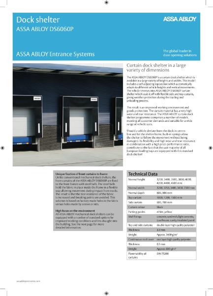 Curtain dock shelter - ASSA ABLOY DS6060P