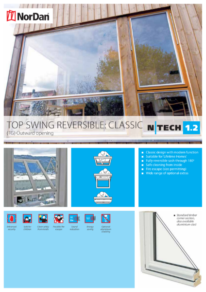 NorDan Top Swing Reversible Windows: Classic