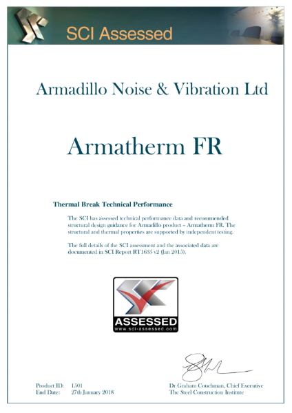 SCI Certificate for Armatherm