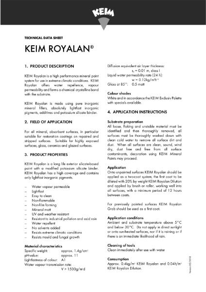 Keim Royalan Technical Data Sheet