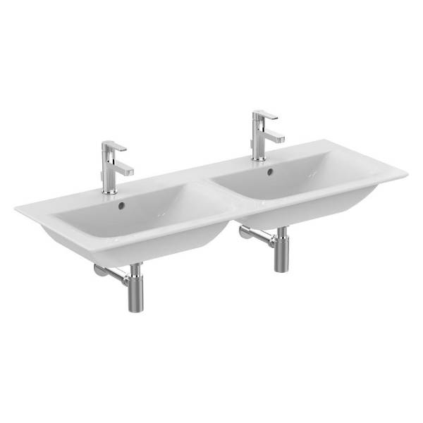 Concept Air 124 cm Double Vanity Washbasin