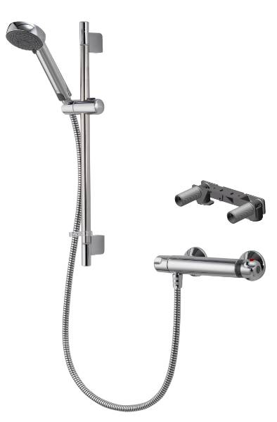 MIDAS 100 - Bar Mixer Shower With Adjustable Head Easy Fit Bracket