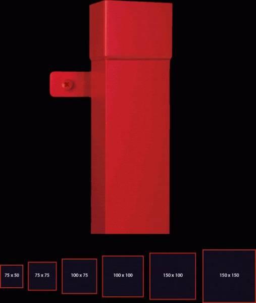 75 mm square downpipe