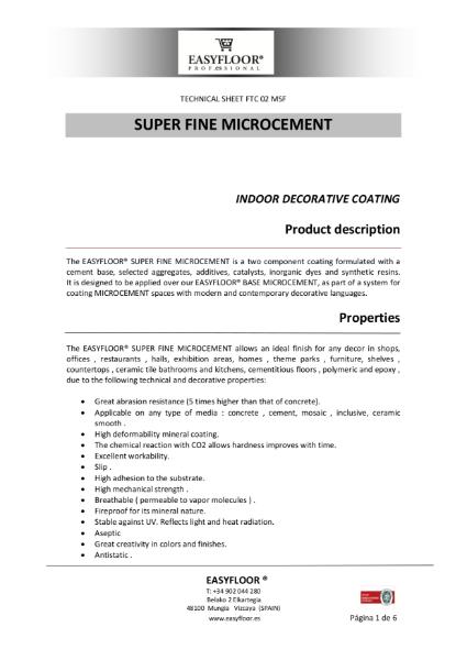 Super Fine Micro Cement