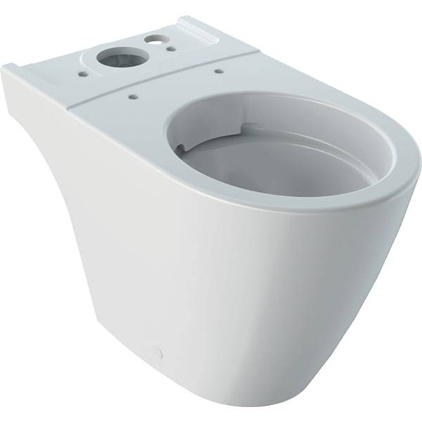 iCon floor-standing WC for close-coupled exposed cistern, washdown, shrouded, Rimfree