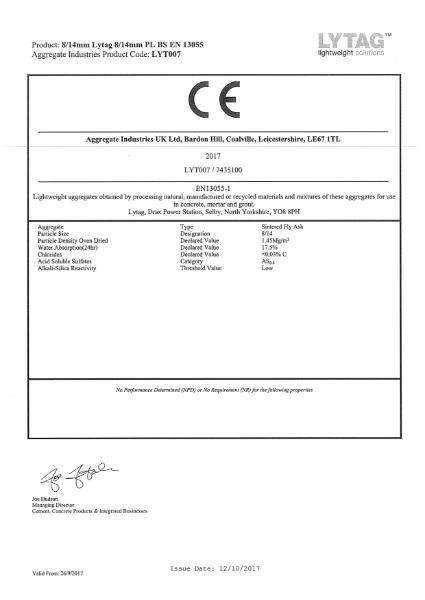Lytag 8/14 PL BS EN 13055