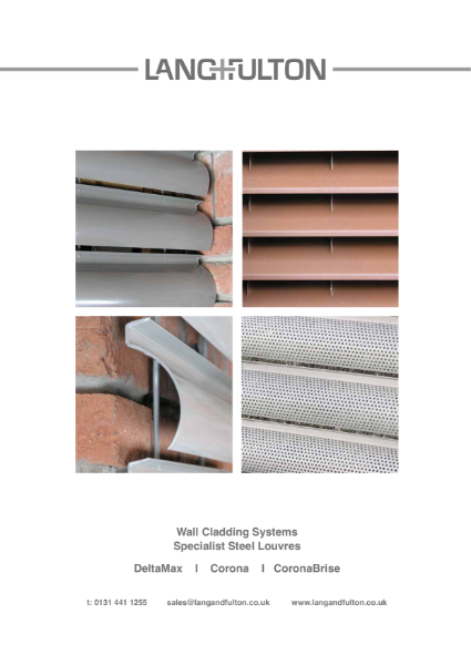 Louvre Wall Cladding: specialist steel products - Corona, CoronaBrise and DeltaMax