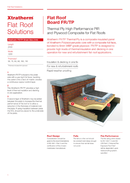 Insulation for Flat Roofs (FR/TP)