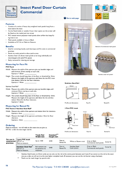Commercial Insect Panel Door Curtain