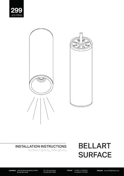 Bellart Surface Downlight Installation Instruction