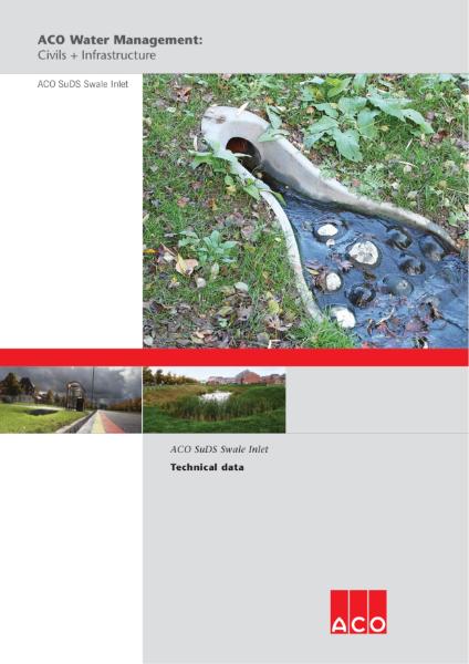 ACO SuDS Swale Inlet brochure