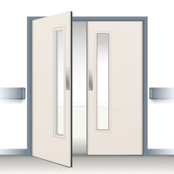 Postformed Double Swing Doorset - Vision Panel 4