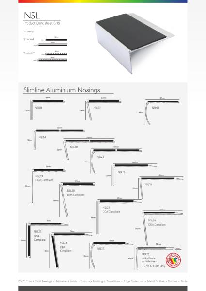 Aluminium Slimline Stair Nosings (NSL)