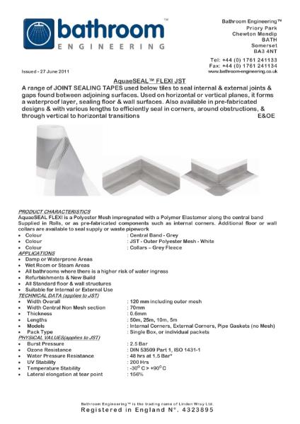 Waterproof Membrane AquaeSeal Flexi JST