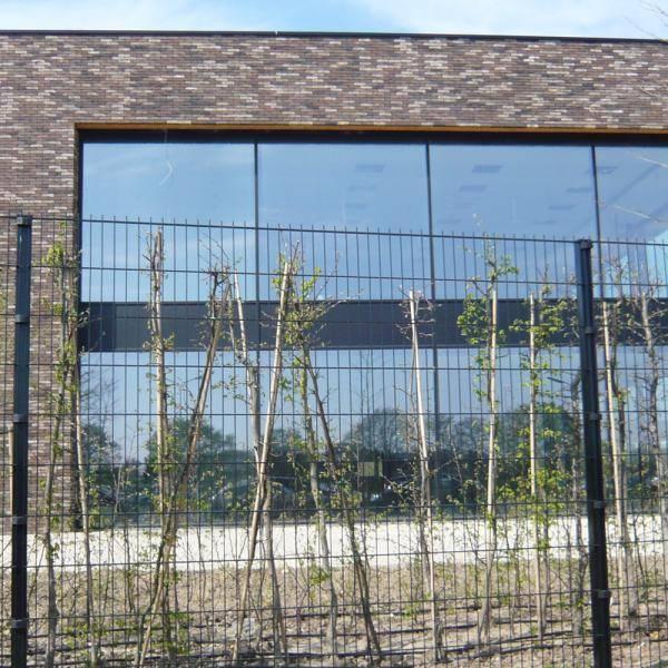 Nylofor F + Nylofor-Twilfix Posts With Fixators - Metal mesh fence panel