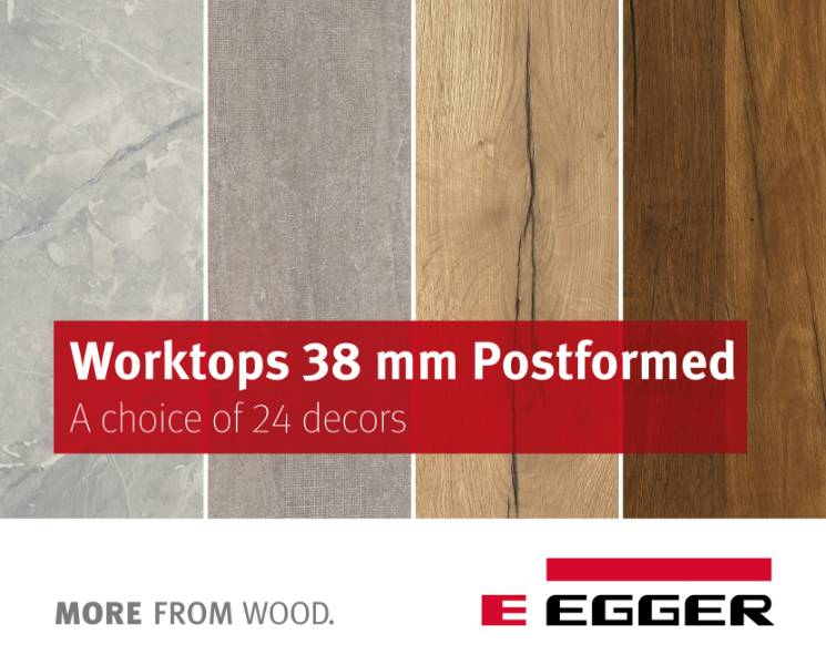EGGER Worktops 38mm Postformed