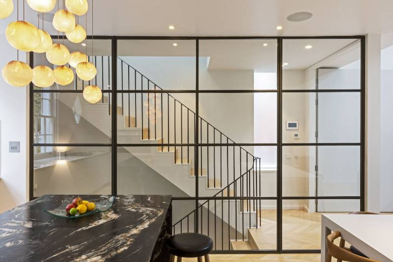 A 'full house' of Clement steel door screens and partitions