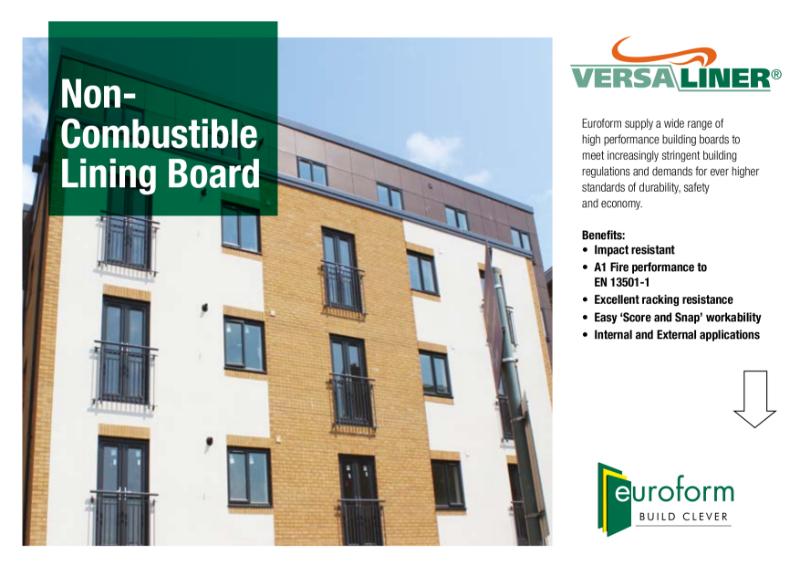 Versaliner Non-Combustible Lining Board