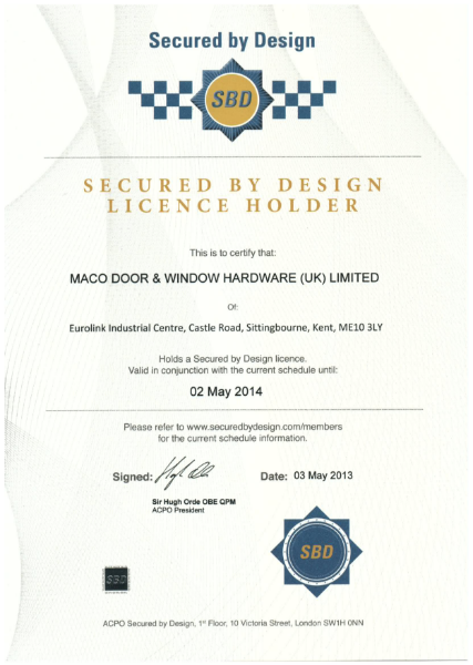 Secured by Design 2014