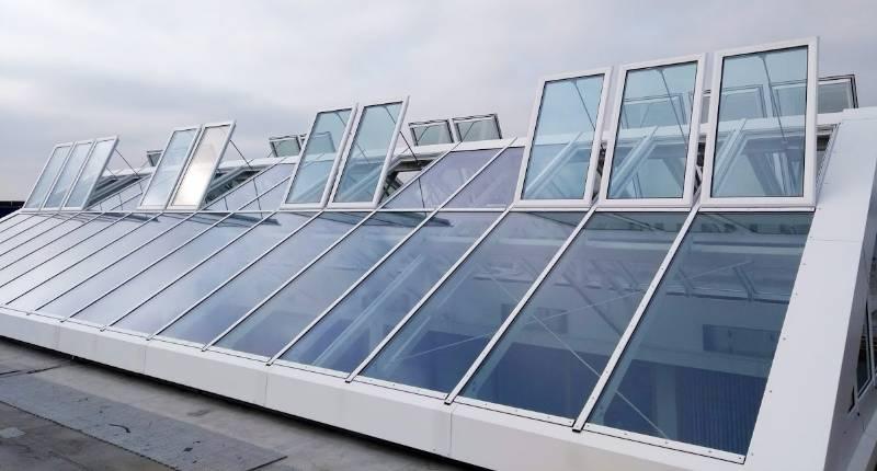 Natural smoke ventilation at Shenley Pavilions