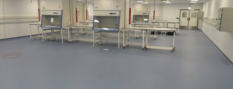 Flooring for a brand-new laboratory testing facility