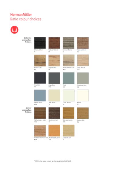 Ratio - Colour Choices